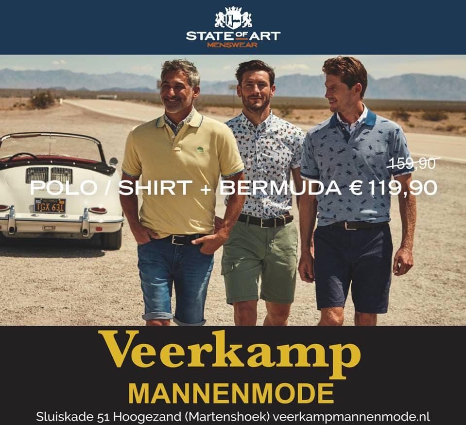 Bij Veerkamp Mannenmode profiteer je van een mooie stijlvolle Summerdeal (op = op).